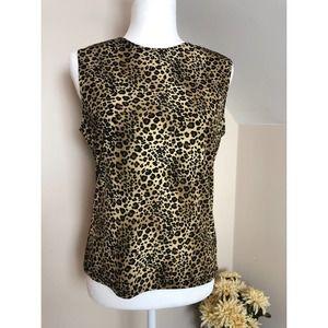 Susan Lawrence Leopard Print Sleeveless Top